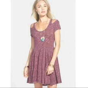 Super Comfy Cold-Shoulder Dress (Purple)